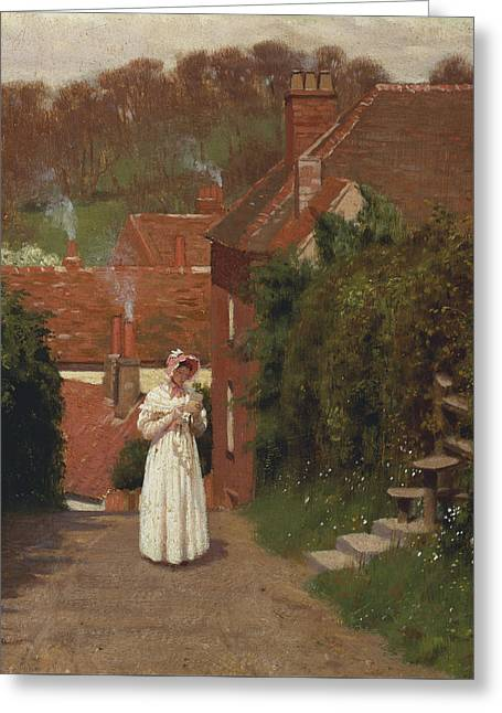 The Love Letter Greeting Card by Edmund Blair Leighton