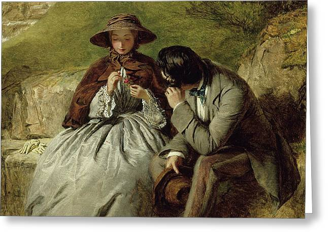 The Lovers Greeting Card by William Powell Frith