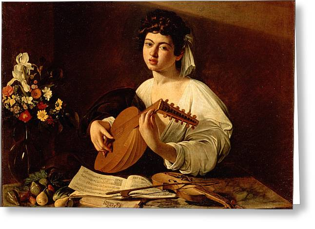The Lute-player Greeting Card