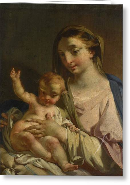 The Madonna And Child Greeting Card by Francesco Capella