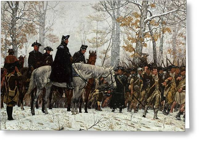 The March To Valley Forge Greeting Card