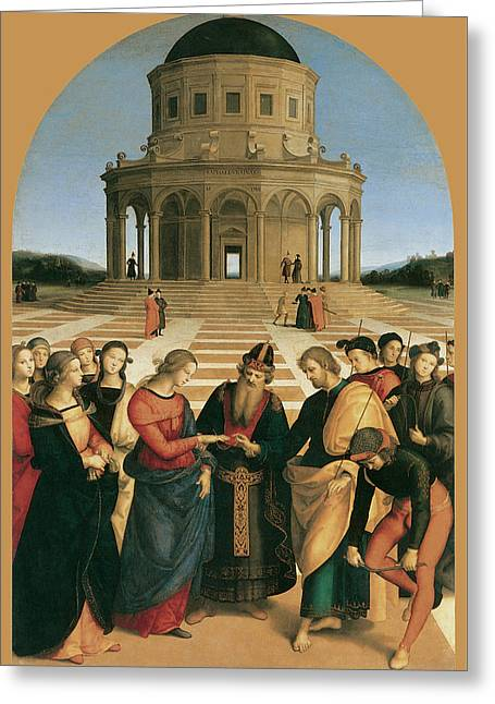 The Marriage Of The Virgin Greeting Card by Raphael