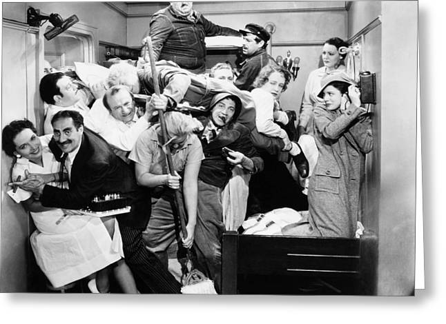 Interior Scene Photographs Greeting Cards - The Marx Brothers, 1935 Greeting Card by Granger