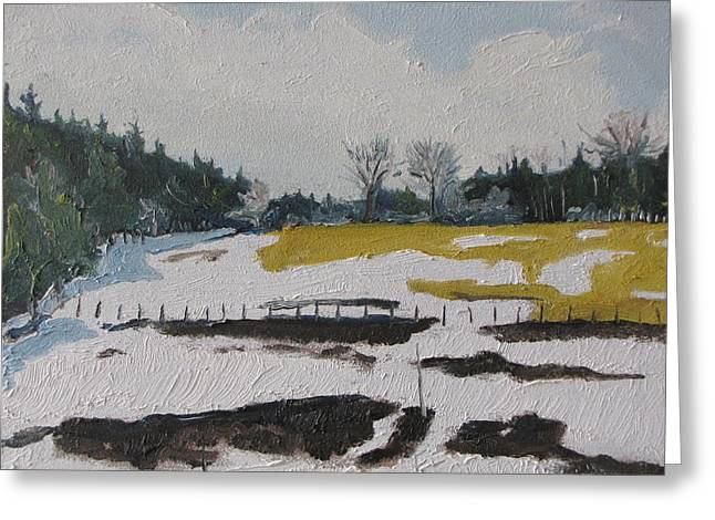 The Melting Snow Greeting Card by Francois Fournier