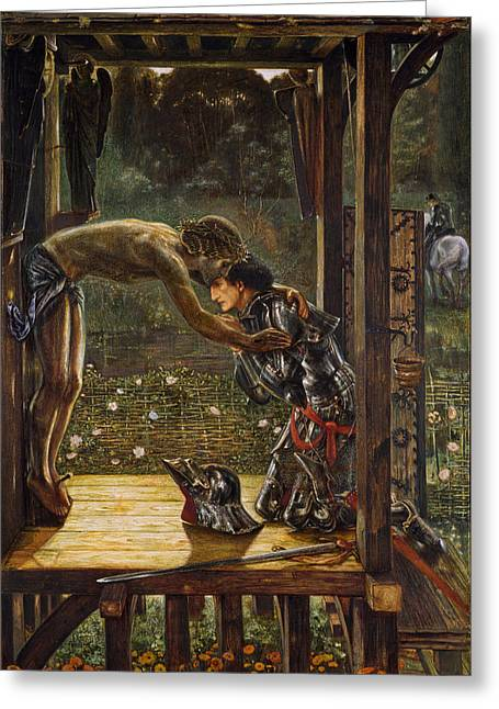 The Merciful Knight Greeting Card by Edward Burne-Jones