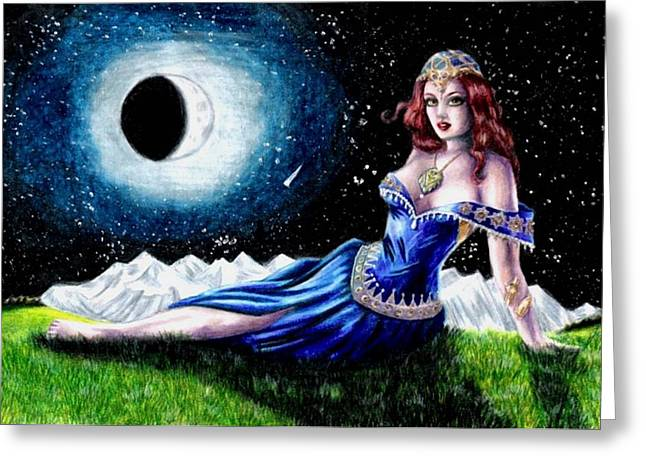 The Moon Witch Greeting Card by Scarlett Royal