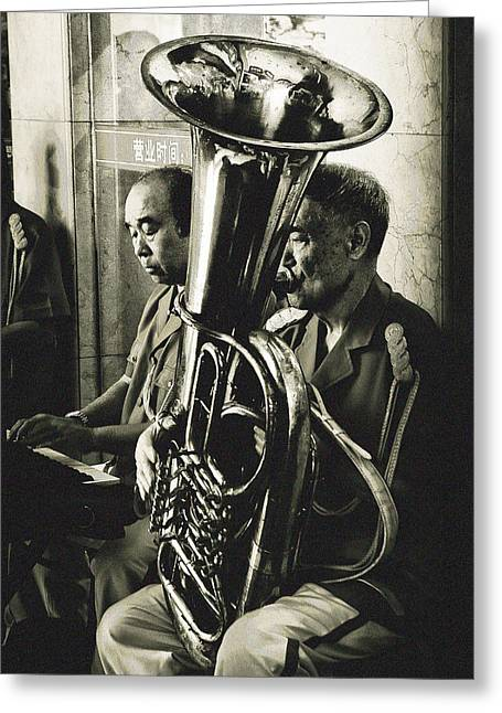 The Musicians Greeting Card by Patrick Kain