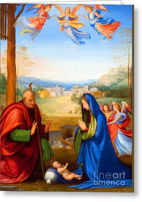 The Nativity Greeting Card by Fra Bartolomeo