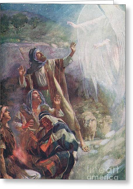 The Nativity Greeting Card by Harold Copping