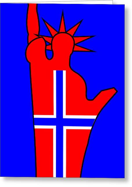The Norwegian Statue Of Liberty Greeting Card by Asbjorn Lonvig