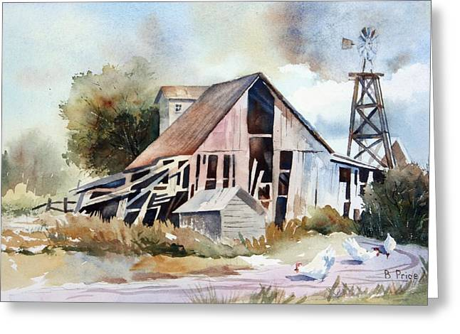 The Old Barn Greeting Card by Bobbi Price