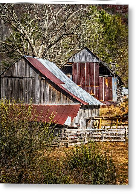 The Old Farm Greeting Card by Debra and Dave Vanderlaan