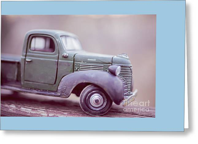 The Old Farm Truck Greeting Card by Edward Fielding