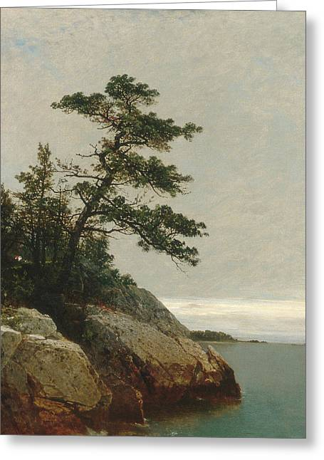 The Old Pine Darien Connecticut Greeting Card by John Frederick Kensett