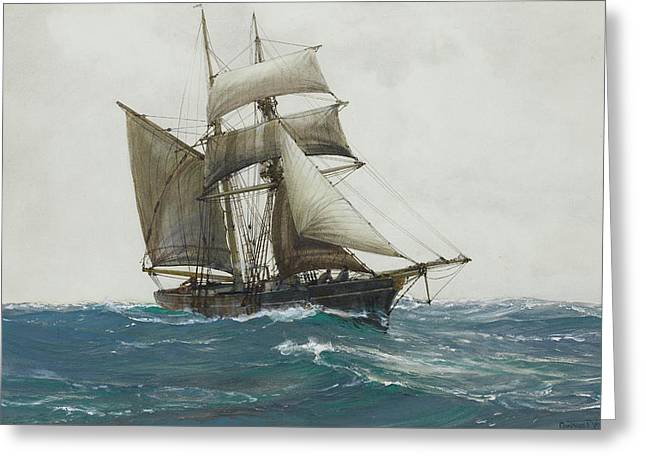 The Lonely Sea Greeting Card by Montague Dawson
