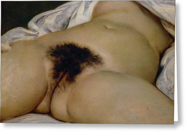 The Origin Of The World Greeting Card by Gustave Courbet