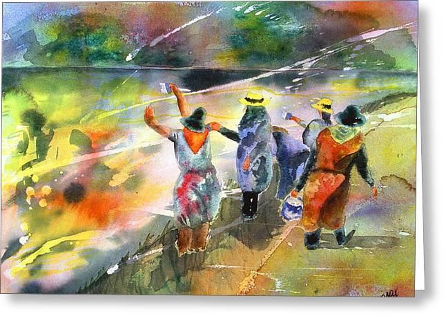 The Painters Greeting Card by Joyce Ann Burton-Sousa