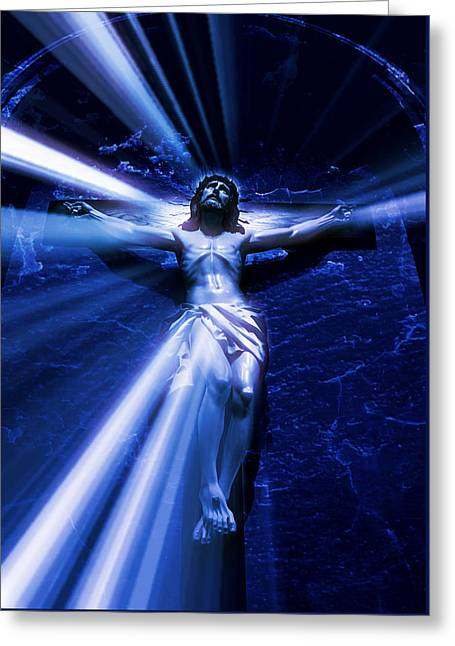 The Passion Of Christ Xvi Greeting Card by Aurelio Zucco