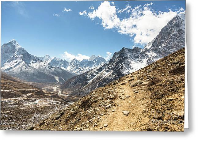 The Path To Cho La Pass In Nepal Greeting Card