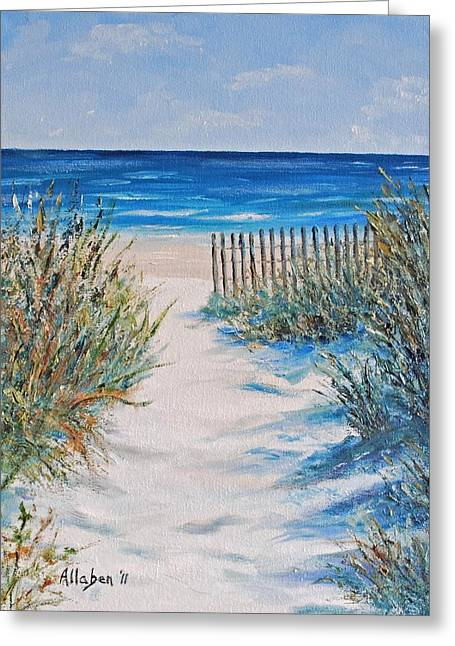 Hilton Greeting Cards - The Pathway Greeting Card by Stanton Allaben