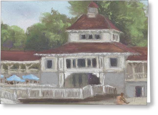 The Pavilion At Lakeside Ohio Greeting Card by Terri  Meyer
