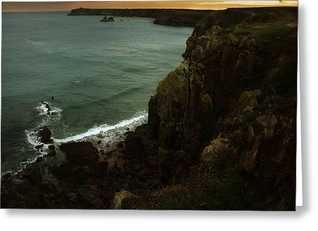 The Pembrokeshire Cliffs Greeting Card by Angel Ciesniarska
