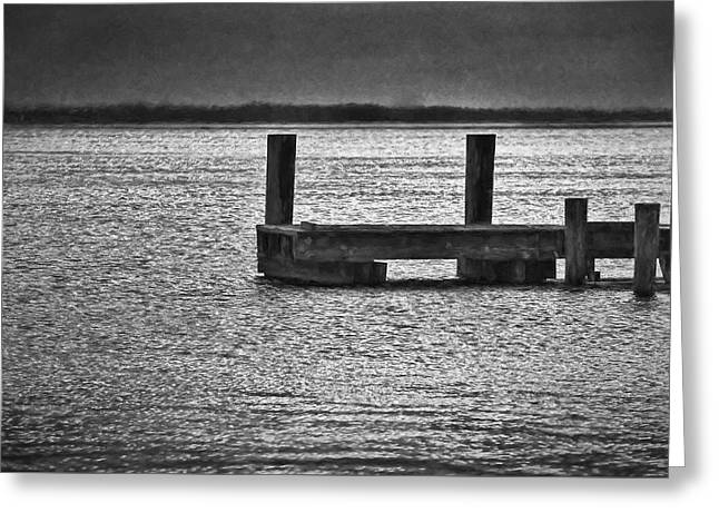 The Pier Greeting Card by Dave Bosse