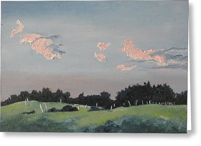 The Pink Clouds Greeting Card by Francois Fournier