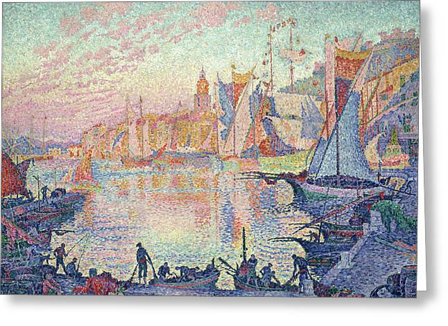 The Port Of Saint-tropez Greeting Card by Paul Signac