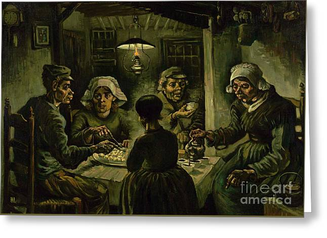 The Potato Eaters, 1885 Greeting Card by Vincent Van Gogh