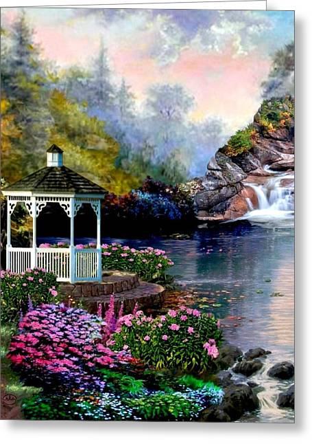 The Prayer Garden 3 Greeting Card