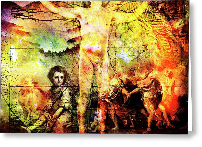 Self-knowledge Digital Art Greeting Cards - The Prophet on Death Greeting Card by Barry Novis