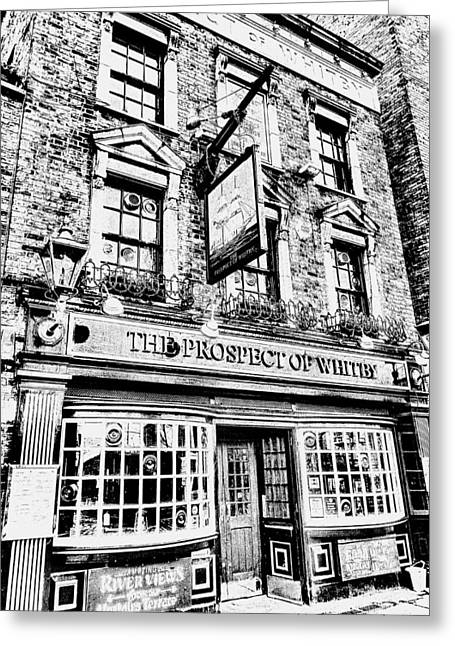 The Prospect Of Whitby Pub London Art Greeting Card by David Pyatt