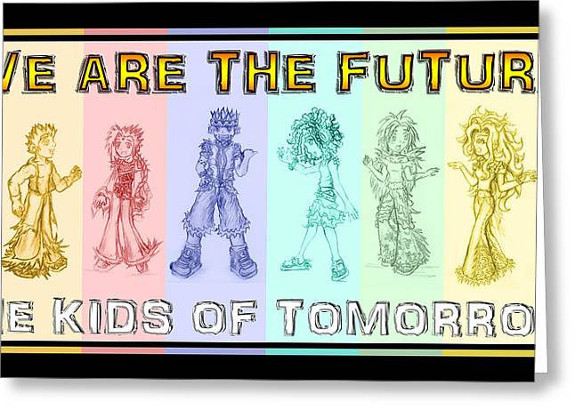 The Proud Kids Of Tomorrow 3 Greeting Card by Shawn Dall