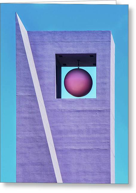The Purple Tower At Pershing Square Greeting Card