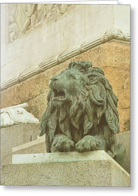 The Queens Lion Greeting Card by JAMART Photography