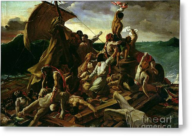 The Help Greeting Cards - The Raft of the Medusa Greeting Card by Theodore Gericault