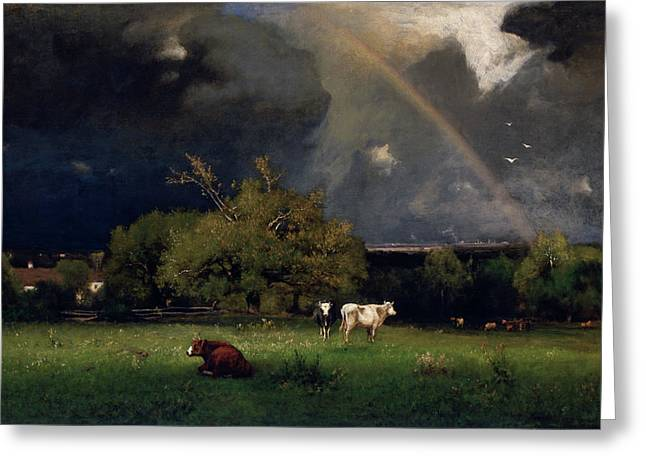 The Rainbow  Greeting Card by George Inness