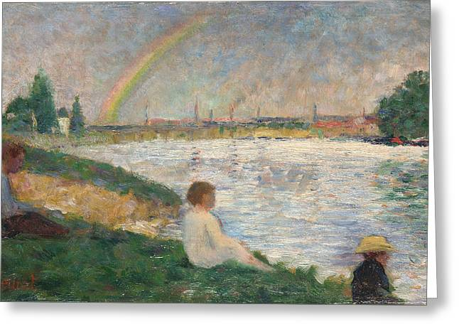 The Rainbow   Study For Bathers At Asnieres Greeting Card