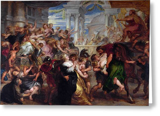 The Rape Of The Sabine Women Greeting Card by Peter Paul Rubens