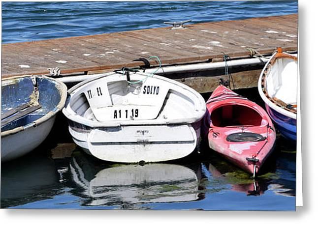 The Red Kayak Morro Bay California Greeting Card by Barbara Snyder