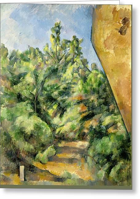 The Red Rock  Greeting Card by Paul Cezanne