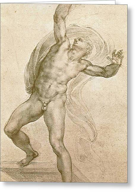 The Risen Christ Greeting Card by Michelangelo Buonarroti