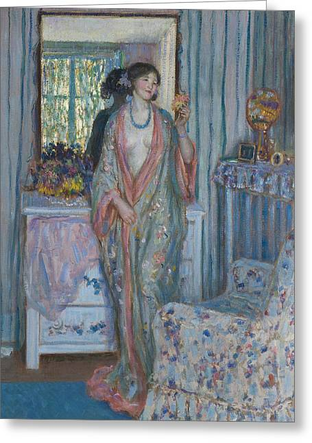 The Robe Greeting Card by Frederick Carl Frieseke