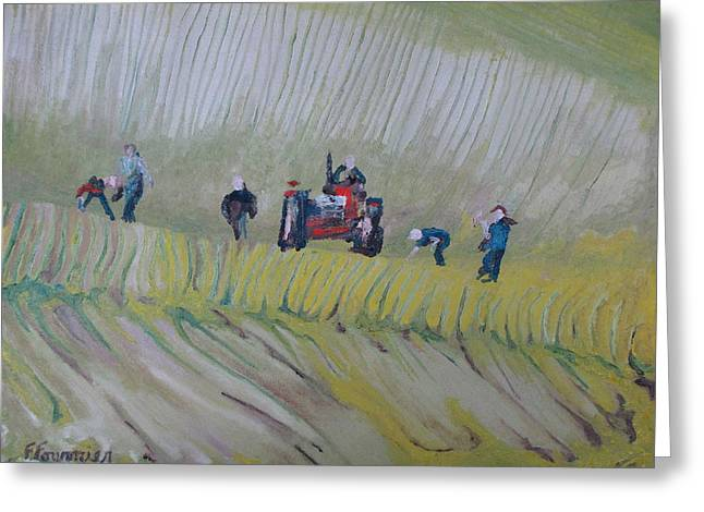 The Rock Pickers No.2 Greeting Card by Francois Fournier