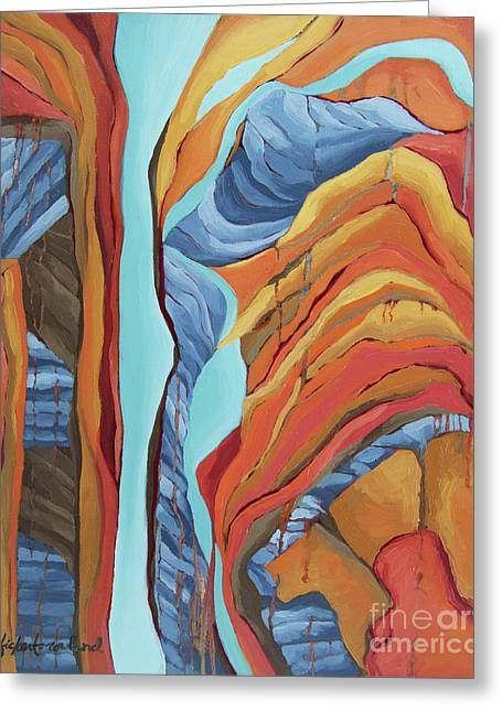 Greeting Card featuring the painting The Rocks Cried Out, Zion by Erin Fickert-Rowland