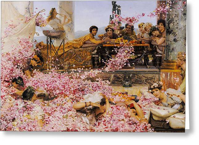 The Roses Of Heliogabalus Greeting Card by Lawrence Alma-Tadema