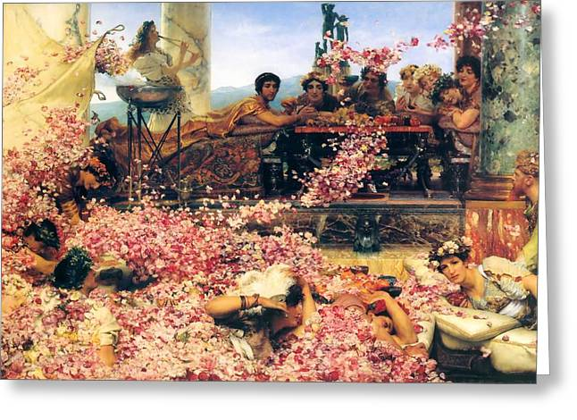 The Roses Of Heliogabalus Greeting Card