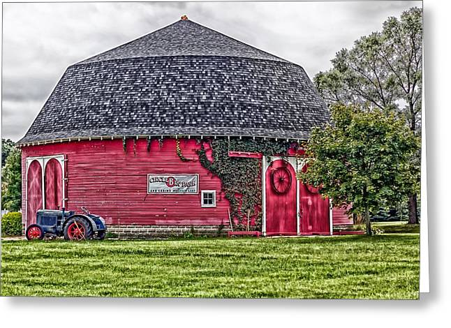 The Round Barn Greeting Card by L O C
