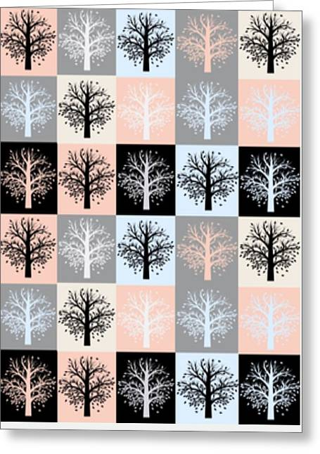 The Seasons Of Our Lives Greeting Card by Devorah Fraser